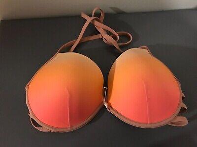Shade & Shore swim bikini top pink neon ombre side strap (Bikini Strap)