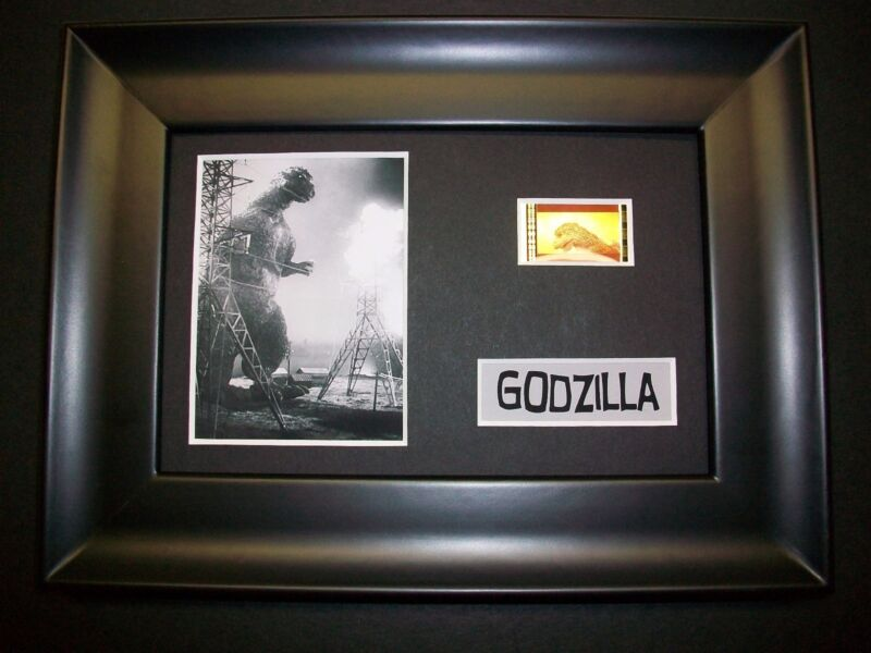 GODZILLA Framed Movie Film Cell Memorabilia Compliments poster dvd