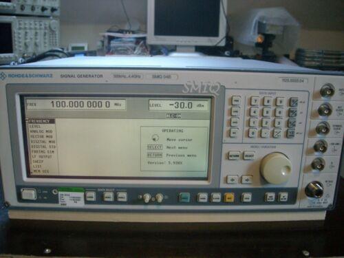 Rohde & Schwarz SMIQ04B Vector Signal Generator Opt. SM-B11, 20, 12, 14, 45, 47,