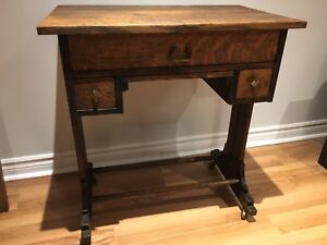 Antique Mission Oak Sewing Table