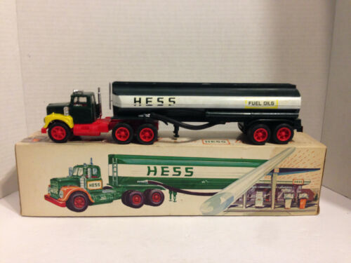 "Vintage Marx 1974 Hess Gas Tanker Truck 13"" with Box Battery Operated Amarada"