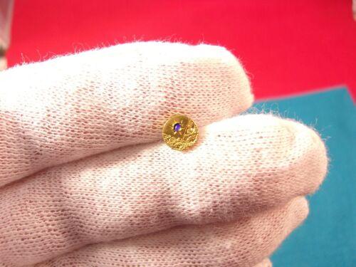 STUNNING LITTLE OLD VTG ANTIQUE GOLD FILLED & BLUE/GREEN OPAL TIE TACK LAPEL PIN