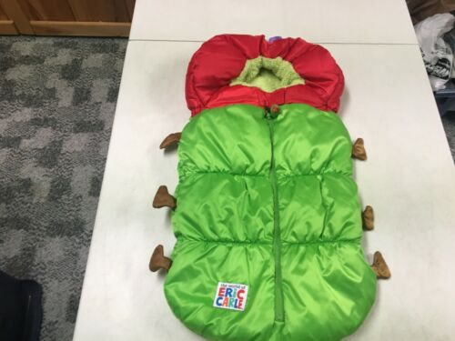 ERIC CARLE VERY HUNGRY CATERPILLAR STROLLER CARSEAT COVER COSTUME  INFANT  EUC