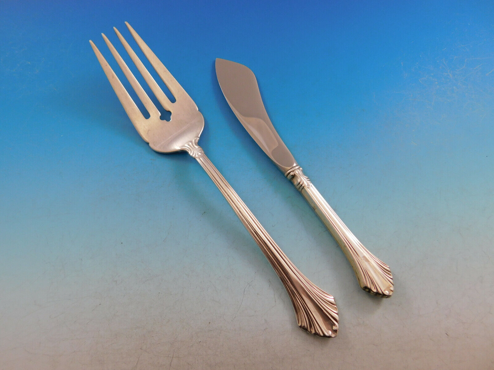 Regency by Lunt Sterling Silver Cold Meat Fork 8 34
