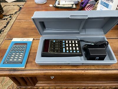 HP-35 Scientific Calculator with Manual and Case, Very Good Condition, Version 2