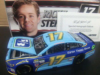 Autographed Ricky Stenhouse Jr 2017 Fifth Third Bank 1 24 Nascar Monster Energy