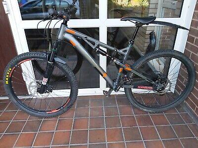 Mens full suspension mountain bike carrera titan x medium with upgrades