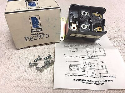 Tecumseh Refrigeration Air Conditioning Compressor Start Relay P82970