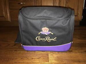 """Crown Royal cooler bag 12.5"""" w x 10.5"""" T x 7"""" D"""