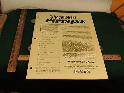THE PIPE SMOKER'S PIPE LINE APRIL 1989 VOLUME 6 NUMBER 3  RICHARD ESSERMAN (Buy Dunhill)