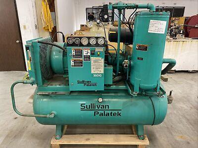 Sullivan Palatek 30 Hp Air Compressor 30dgsd-te 7327 Hrs