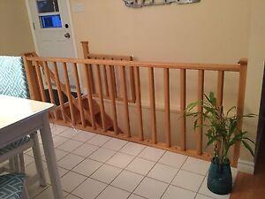 Rampe escalier chêne