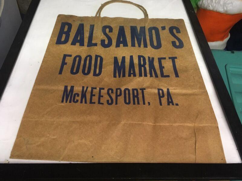 Balsamos Grocery Store Bag McKEESPORT, PA
