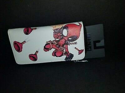 NEW Bioworld Deadpool Zip Around Wallet Licensed Marvel