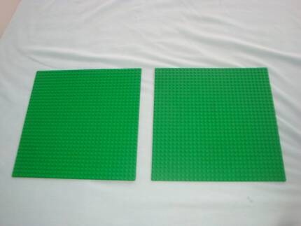 2 Large Green Lego Plates/Bases, Excellent Cond, $8 each