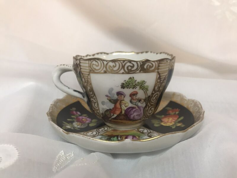 Dresden Late 1800's Teacup And Saucer