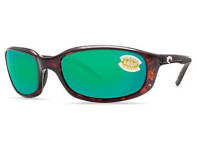 Costa Del Mar Brine Tortoise / Green Mirror 580 Plastic 580P - NEW