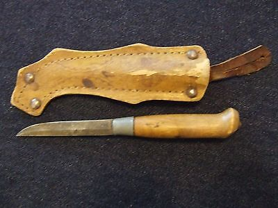 Finland Finnish Small Puukko Knife with Laminated Paper Sheath original to WWII