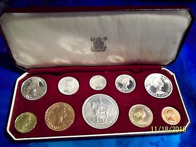 1953 PROOF QUALITY UK GB CORONATION TEN COIN SET IN ROYAL MINT ORIGINAL BOX