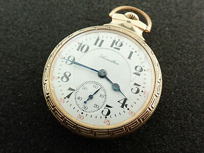 16 SIZE HAMILTON RAILROAD POCKET WATCH GRADE 992 - KEEPING TIME - FROM 1910