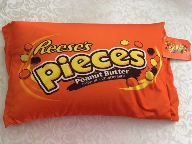 Reese's Pieces candy pillow NEW WITH TAGS