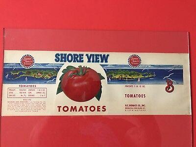 Antique tomato Soup Can Label - kitchen art - colorful decor - vintage - 1940's Antique Label Art