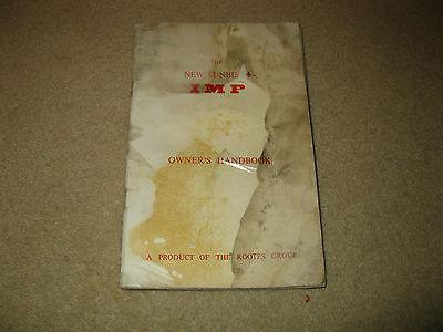 Rootes New Sunbeam Imp owner's handbook
