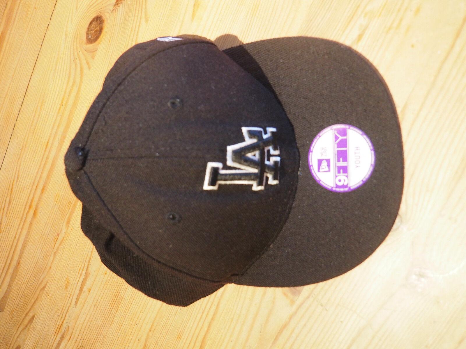 Baseball Cap, LA Dodgers, New Era, 9 FIFTY, Youth Snapback, schwarz