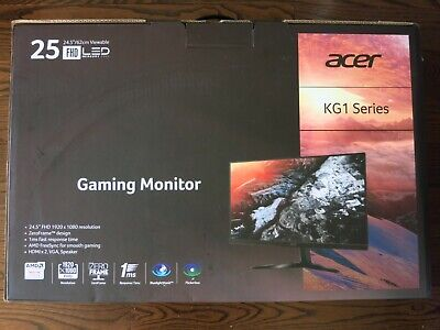 "Brand New Acer KG251Q bmiix 25"" LED Gaming Monitor 1080p HD 75Hz 1ms FreeSync"