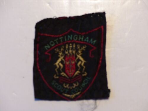 Used Vintage Nottingham Scout Council Boy Scout District Badge United Kingdom
