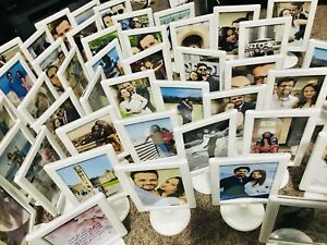 Double sided standing photo frames(white)