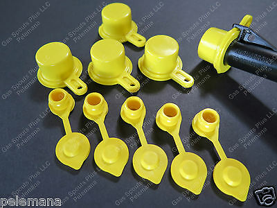 5-pack Blitz Spout Caps 5 Free Yellow Gas Can Vents Worth 5.89 Blow Out Sale