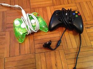 Xbox 360 controllers and headset