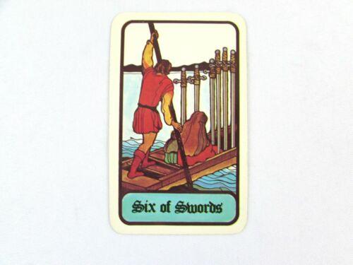 Vintage 1972 Hoi Polloi Tarot *Single Replacement Card* Six of Swords
