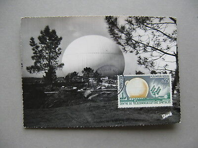 France  Maximumcard Maxi Card 1962  Transatlantic Tv Station  Telecom