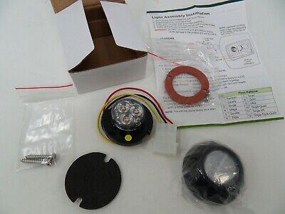 4 Sho-me Amber Covert Led Lighthead W Built In Flasher 12.3312  Inv66