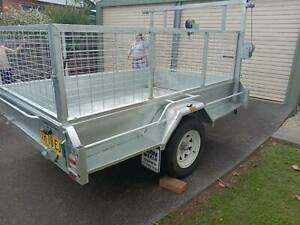 8x5 caged trailer