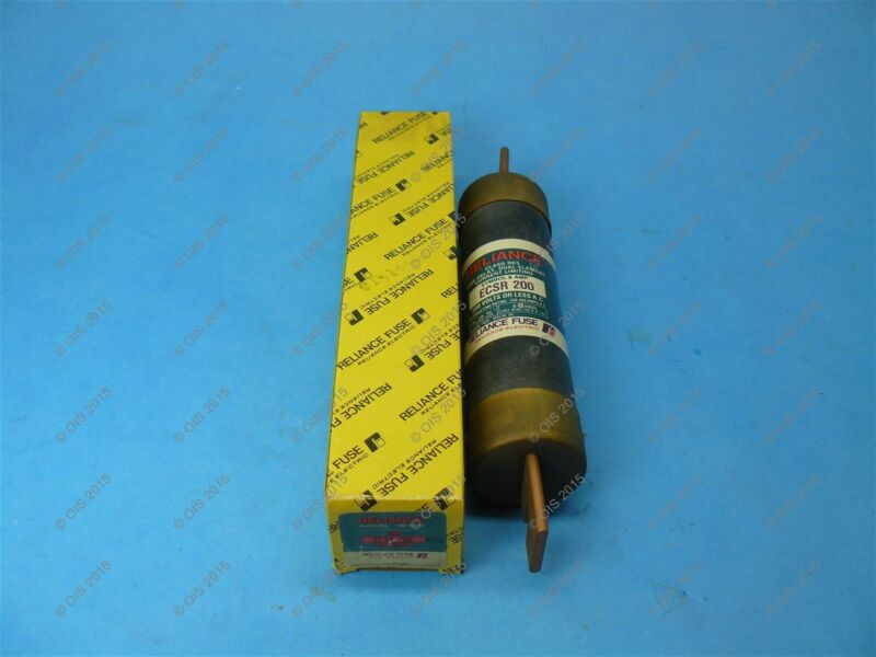 Reliance ECSR-200 Time Delay Fuse Class RK5 200 AMP 600VAC New