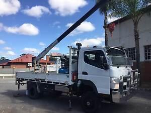 2014 Mitsubishi Fuso Canter FG 4x4 Tray Crane Truck Walkley Heights Salisbury Area Preview
