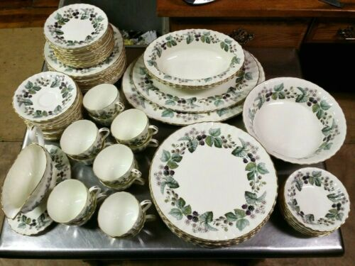 72 Piece Set Royal Worcester Lavinia Pattern Porcelain China, 12 Place Settings