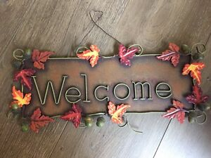 Welcome Fall Metal Sign