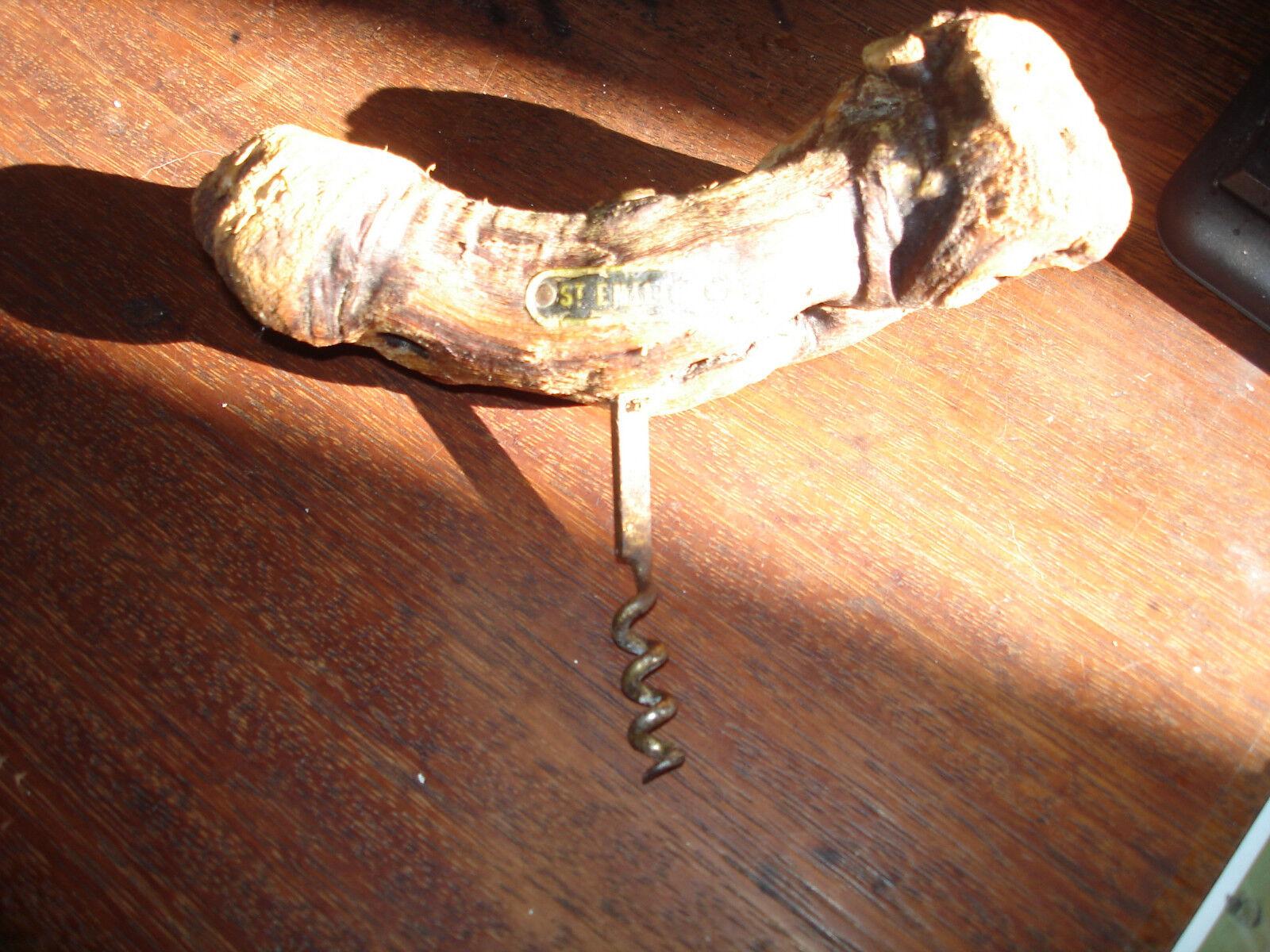 Tire-bouchon ancien - cep-de-vigne - saint emilion - collection, déco ou usage -