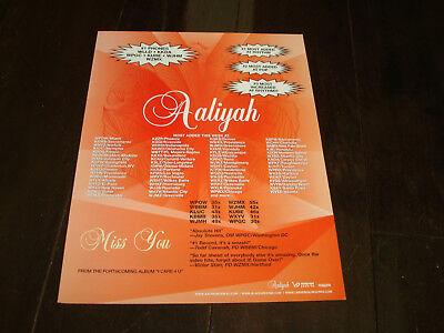 "AALIYAH 2002 ad for hit ""Miss You"", Aaliyah Haughton"