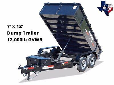 Brand New Texas Pride 7 X 12 Bumper Pull Dump Trailer 12k Gvwr