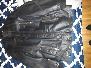 MENS LARGE DANIER LEATHER JACKET WINTER THINSULATE