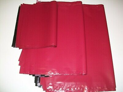 50  mix sizes BURGUNDY Mailing Poly Postal Bags Postage Mailers Envelopes Bags