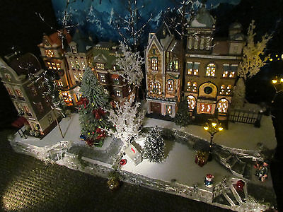 Multi level Curving Christmas Village Display platform base 42x12 Dept 56 Lemax