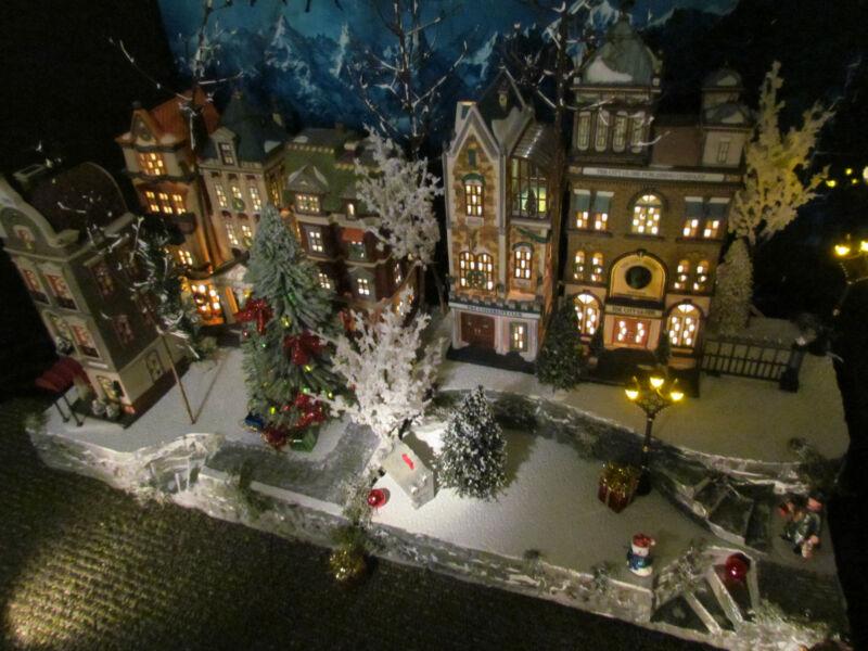 Multi level Curved Christmas Village Display platform base 42x12 Dept 56 stand