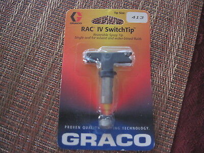 Graco Rac Iv Switch Tip Reversible Paint Spray Tip Size 413 New