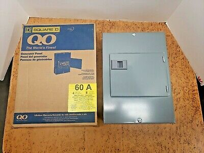 Square D Qo 4-8m60dsgp Indoor Generator Panel 60a 4 Spaces 8 Circuits Ul
